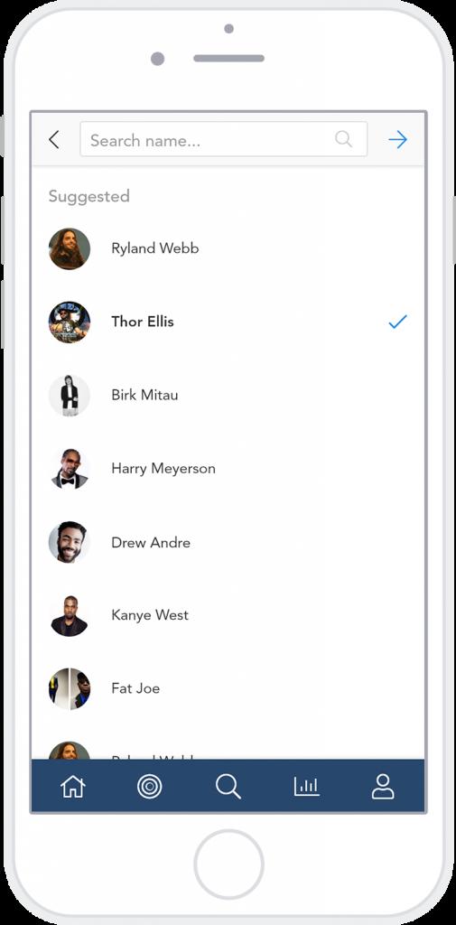 hi-fi media player contacts select