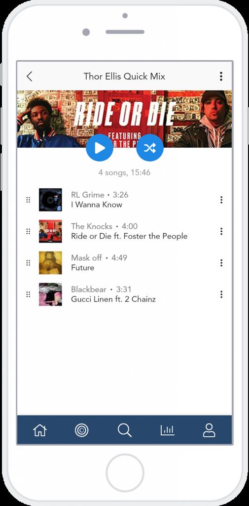 hi-fi media player playlist