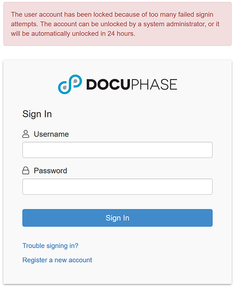 Login - Locked User