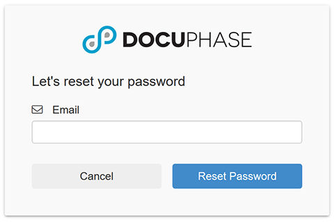 Password Reset Email Address